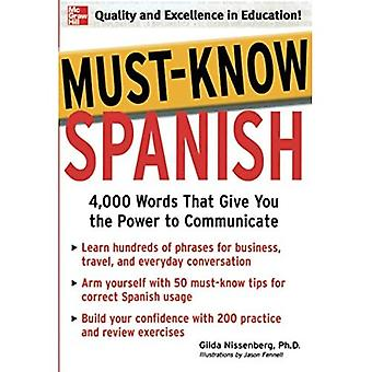 Must-Know Spanish (Must Know)