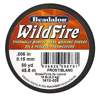 "Wildfire Stringing Thread .006""X50yd-Frost"