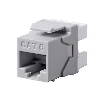 Cat6 RJ-45 180-Degree Punch Down Keystone Dual IDC  25 pack by Monoprice