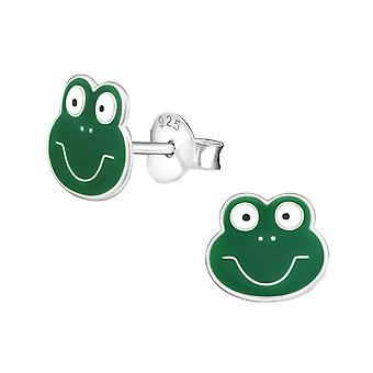 Frog - 925 Sterling Silver Colourful Ear Studs - W958x