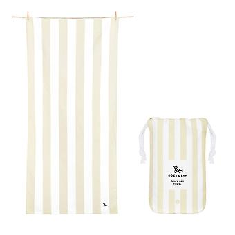 Dock & bay quick dry towel - cabana - bora bora beige