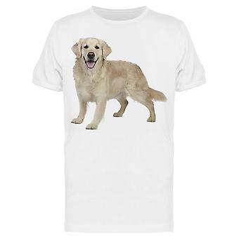 Golden Retriever Hund verspielt Tee Men's -Bild von Shutterstock