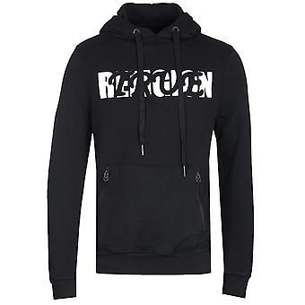 True Religion Baseball Print Black Pullover Hoodie