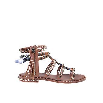 Ash Pareo02 Kvinnor's bruna lädersandaler