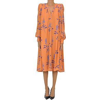 Dries Van Noten Ezgl093166 Women's Orange Polyester Dress