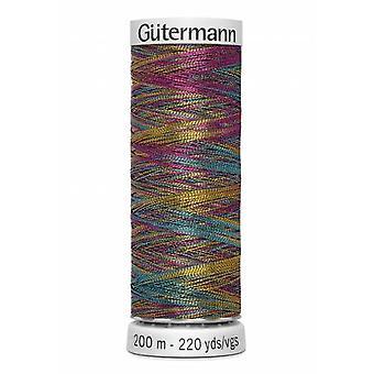 Gutermann Dekor Metallic Polyester Embroidery Thread 200m/219yds - Primary Multi