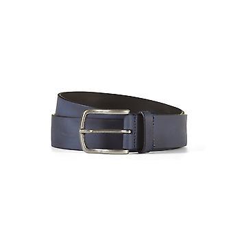 Leather belt davis navy