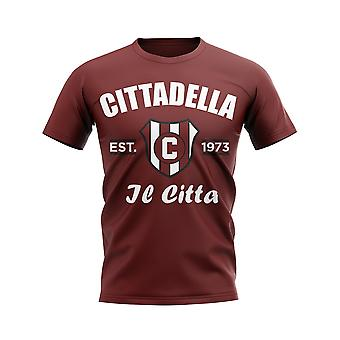 Cittadella Etablerad Fotboll T-shirt (Maroon)