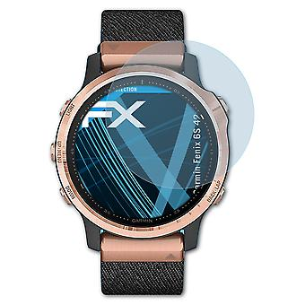 atFoliX Glass Protector compatible with Garmin Fenix 6S 42mm Glass Protective Film 9H Hybrid-Glass