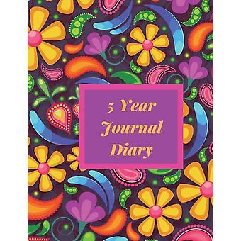 5 Year Journal Diary  A five year memoir five year journal One line a Day Journal five year memory journal 8.5x11 Diary Dated and Lined Book Paisley Theme by Executive Journal Books
