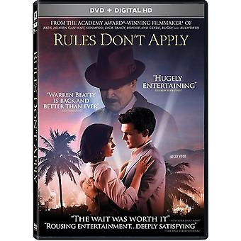 Rules Don't Apply [DVD] USA import