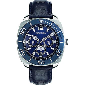 Nautica Watch NAPBHS901 - Läder Gents Quartz Multifunktion