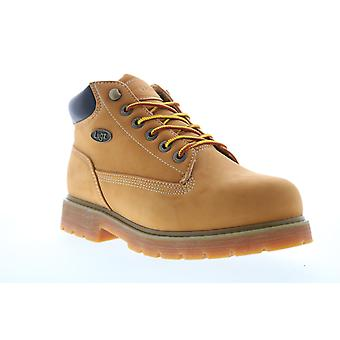 Lugz Drifter Mid Steel Toe Mens Brown Wide 2E Lace Up Ankle Boots
