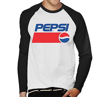 Pepsi 1991 Rétro Logo Hommes Baseball Long Sleeved T-Shirt