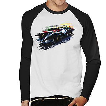 Motorsport Images Lewis Hamilton At Monaco GP AMG F1 W10 Men's Baseball Long Sleeved T-Shirt