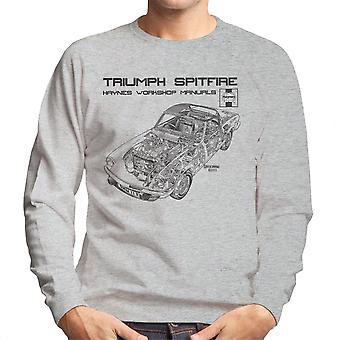 Haynes proprietários Workshop Manual 0113 Triumph Spitfire preto de moletom masculino