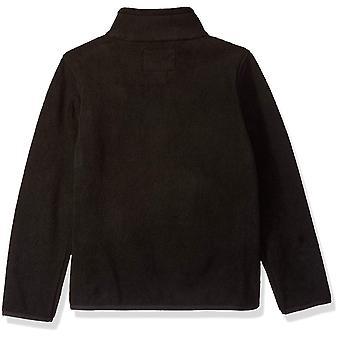 Essentials Girl's Full-Zip Polar Fleece Bunda, čierna, X-Veľké