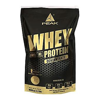 Peak Whey protein concentrate, smells like 1000g.