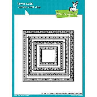 Lawn Fawn Outside In Stiched Scalloped Square Stackables Stirbts