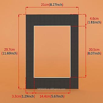 Rectangle Photo Mats 12pcs - Paper Board Mounts Textured Surface For Picture Frames