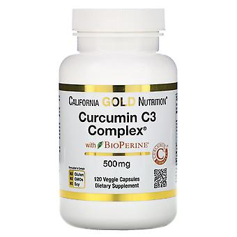 California Gold Nutrition, Curcumin C3 Complex with BioPerine, 500 mg, 120 Veggi