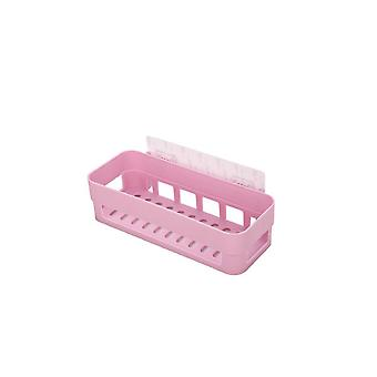 Wandbevestiging Opslag rack Punch-free Badkamer Drain Rack Light Pink