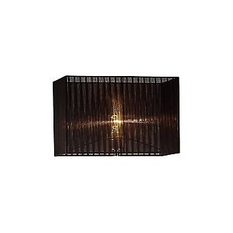 Rectangle Organza Shade, 400x210x260mm, Black, For Floor Lamp