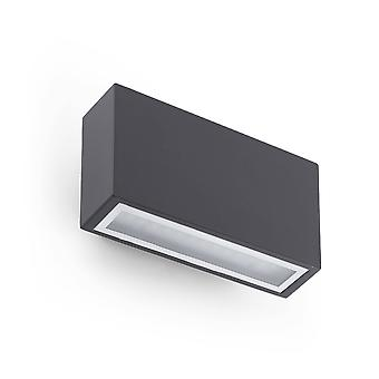 LED Outdoor Up Down Wall Licht Donkergrijs IP44