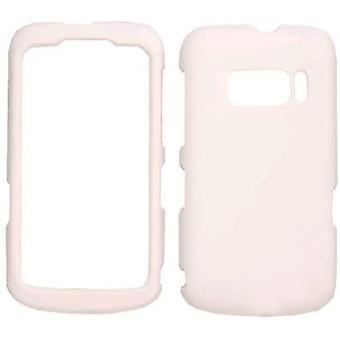 Cas de Snap-On cellulaire illimité pour Alcatel One Touch 918 - Rubberized Honey Whi
