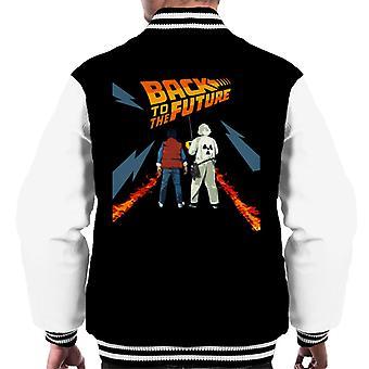 Terug naar de Toekomst Delorean Fire Trail Marty and Doc Men's Varsity Jacket