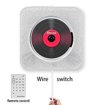 Lettore cd audio portatile Bluetooth montato a parete con telecomando