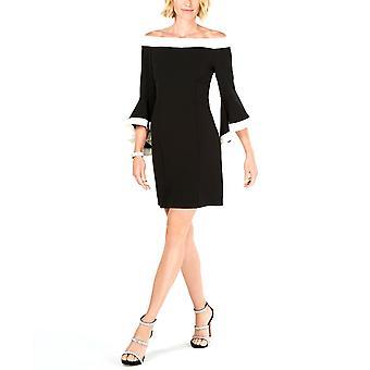 MSK | Colorblocked Off-The-Shoulder Sheath Dress