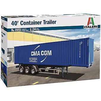 """Italeri 40"""" Container Trailer 3951 Schaal 1 24"""