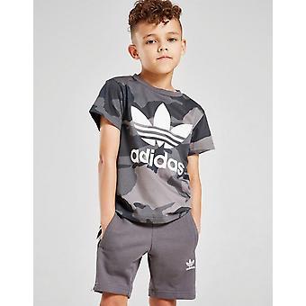 Nové adidas Originals Boys' Trefoil T-Shirt/Shorts Set Grey