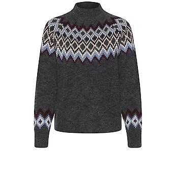 b.young Olika Grey Patterned Jumper