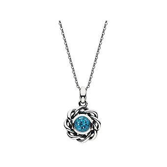 Heritage Mystic Birthstone December Blue Zircon Necklace 9234DEC024