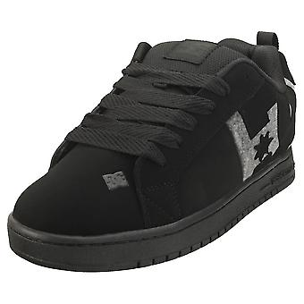 DC Shoes Court Graffik Mens Skate Trainers in Black Grey