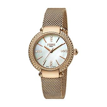 Ferre Milano Women's FM1L105M0081 MOP Dial Rose-Gold IP Stainless Steel Watch