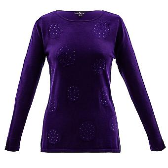 MARBLE Marble Purple Sweater 5833