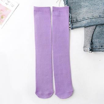Children's Knee Socks Kids Socks- Baby Cotton Knee High Long Leg Warmers Cute Socks 3-12 Y