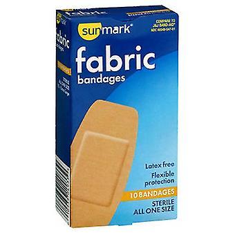 Ataduras de tecido sunmark, todos de um tamanho extra grande 10 cada