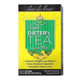 Natrol Laci Le Beau Super Dieters Tea, Sitruuna minttu 30 Pussia
