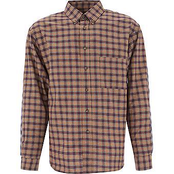 Paccbet Pacc7b001 Men's Brown Cotton Shirt