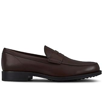 Tod's Brown Leather Moccass