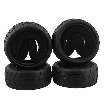 4ks 65mm OD Čierna RC 1:10 Chequered vzor gumové pneumatiky na ceste závodné pneumatiky