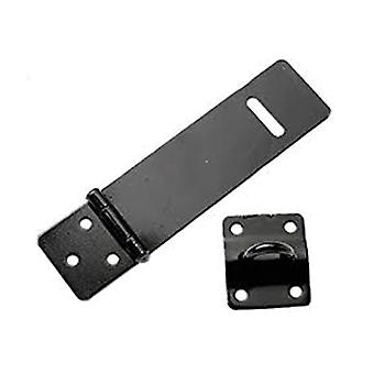 Home Label Safety Hasp & Staple 90mm Black Plated HSSA09BK