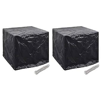 Cover tarpaulins for garden water tank 2 pcs. 8 eyelets 116x100x120 cm
