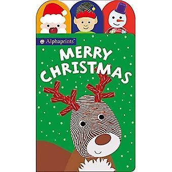 Alphaprints: Merry Christmasa� (Alphaprints) [Board book]