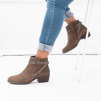 Lotus Dani Ladies Suede Ankle Boots Taupe