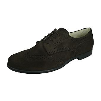 Angela Brown Bailey Kids Suede Leather Brogue / Chaussures lacets - Brun